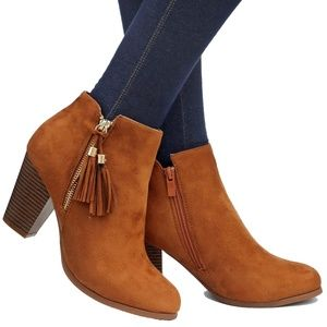 New Tan Tassel Western Ankle Booties Boots